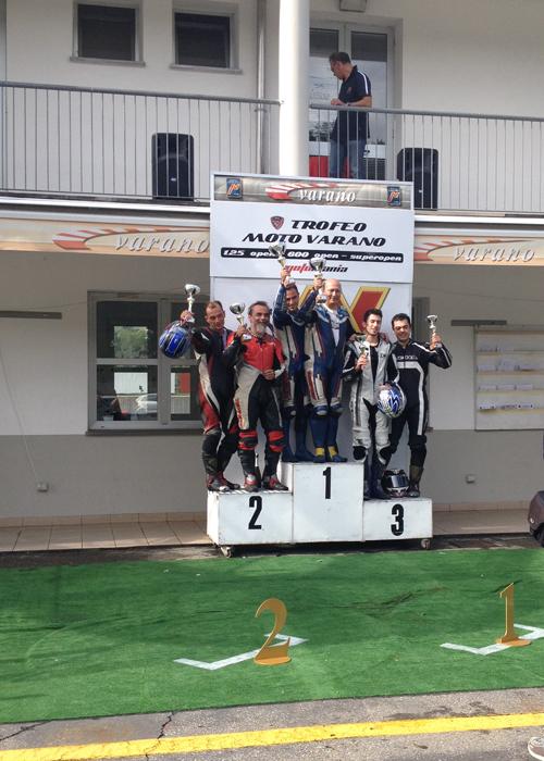Podio seconda gara trofeo Varano
